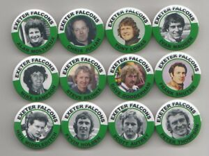EXETER FALCONS BRITISH SPEEDWAY CHAMPIONS 1974 FRIDGE MAGNETS X12  38mm IN SIZE