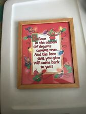 """Wooden Frame-Christmas Picture. 8"""" X 10"""""""