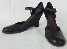 Enzo Angiolini Bautara Womens Size 7M Shoes Wedge High Heels EA Flexo Dark Brown