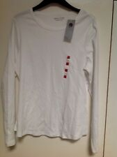 M&S Long Sleeve Pure Cotton T Shirt Size: 24