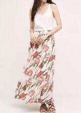 NEW Anthropologie Tulip Chiffon Maxi Skirt Size 10 Paper Crown