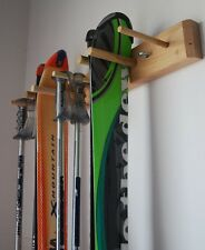 Ski Storage Rack, Wall Mount, 2 Skis by Willow Heights Designs