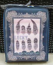 "Pretty Blue Feather Fashion Papaya Art 10"" Kindle Tablet Cover Case Slip Sleeve"