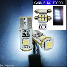 KIT 4 AMPOULE LED SMD PLAQUE + VEILLEUSE CANBUS VW GOLF 4 TDI R32 GTI