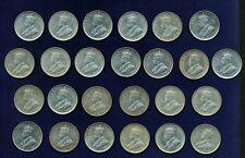 AUSTRALIA GEORGE V  1916-M 1 SHILLING SILVER COINS (25)