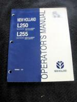 NEW HOLLAND L250 L255 SKID STEER LOADER TRACTOR OPERATORS MANUAL VERY NICE!