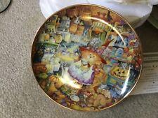"Bill Bell'S Franklin Mint ""Scaredy Cats"" Cat Plate"