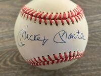 Mickey Mantle autographed offical American League Baseball w/COA