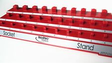 Car Motorcycle Socket Set Holder Tool Tray Organizer Stand Bench Top RED METRIC