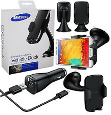 Genuine Samsung Galaxy S6 Edge & S6 Vehicle Car Dock Holder + Car Charger /Cable