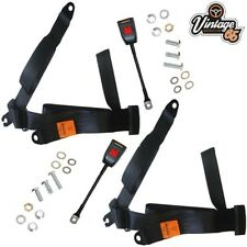 Lotus Elan S2 S3 S4 Coupe Pair Front 3 Point Static Lap & Diagonal Seat Belt Kit