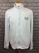 EA7 EMPORIO ARMANI MENS UK XXL WHITE FULL ZIP TRACK TOP