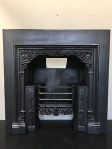 Antique Style Cast Iron Georgian Register Grate 42 X 42 Fireplace Insert (TA468)