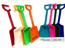72 Toy Plastic Shovels (Mix of 9 Colors) & Free I Dig You Stickers Made in USA*