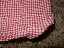 Pottery barn Kids Red Gingham Checker Fitted Crib Sheet (Fabric) Toddler bed