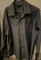 Tommy Hilfiger Mens Grey  Long Sleeved Shirt Size 17.5 Collar