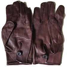 Genuine UK Military British Army Officers / WO2 Brown Leather Dress Gloves PARA