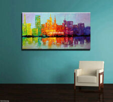 Hot Modern Abstract Wall Decor Oil Painting On Art Canvas,Modern City(No Frame)