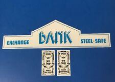 Playmobil Western * Bank *autocollant - Sticker Maison Western