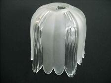 Lampenschirm Halogen G9 Glas Glasschirm Ersatz Weiß Länge 12 cm K0428