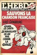 """""""L'HEBDO HARA-KIRI N°21 du 9/12/1981"""" HUGOT : SERGE GAINSBOURG"""