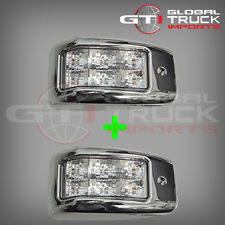 HINO PRO 500 SERIES CHROME LED SIDE LAMPS x 2 - 2003 ONWARDS (HM03-SLCLED x 2)