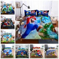 3D Super Mario Bros. Game Kids Duvet Cover Bedding Set Quilt Cover Pillowcase