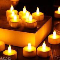 3PCS LED Electric Candles Tea Light Battery Flameless Wedding Party Home Decor