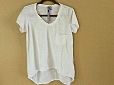 Wilt Cotton White Vintage Slouchy V Neck Tee Shirt Small Short Sleeve
