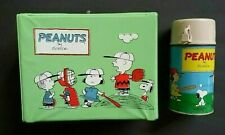 """PEANUTS"" ""CHARLES SCHULZ"" 1965 VINYL LUNCHBOX & ""THERMOS"" TV CARTOON ""SNOOPY"""