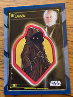 2020 Topps Star Wars Holocron Commemorative Creature 11/50 Jawa with R2-D2 blue