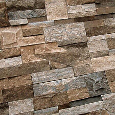 Natural Vintage Realistic 3D Effect Marble Brick Stone Wallpaper Roll Home Deco
