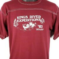 Kings River Expeditions Rafting T Shirt Vintage 80s 83 Staff Made In USA Medium