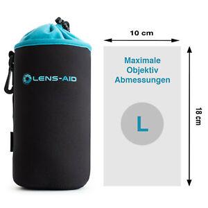 Lens-Aid Neopren Objektivbeutel mit Fleece-Fütterung - Objektivtasche Größe L