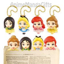 DISNEY PRINCESS CLIP & KEYCHAIN - Alice, Ariel, Belle, Mulan TAKARA TOMY JAPAN