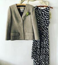 Vtg 70s Andre Laug Roma Audrey Neiman Marcus Italy Herringbone Tweed Jacket 8 M