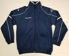 Diadora full-zip track jacket men sz S navy/white
