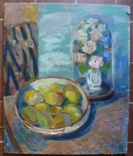 VENTRILLON  Ernest 1884-1953;nature morte aux fruits.Huile sur panneau.