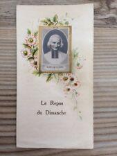 ST JMB VIANNEY IMAGE PIEUSE HOLY CARD Repos Du Dimanche CURE d'ARS FRANCE