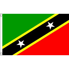 Saint Kitts And Nevis Flag 5Ft X 3Ft West Indies Island Banner With 2 Eyelets
