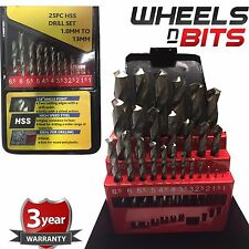 Coffret 25Pcs precision hss twist hss drill bit set 1-13 mm inc case