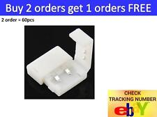 20-pack 10mm 2-pin Solderless Clip-on Coupler Connector for 5050 LED Strip Light
