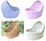 Organic Woven Wicker Bassinet Baby Gifts Crib Colours Rattan Hamper Home Baskets