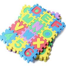 Educational Toys Developmental 36 Piece Safe Foam Number Stunning Mats Baby