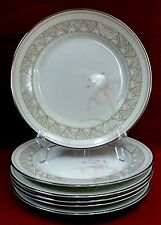 """LENOX china PINK LILY pattern Bread Plate - Set of Six (6) - 6-1/4"""""""