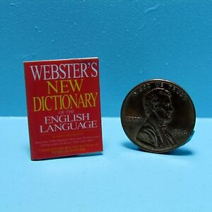 Dollhouse Miniature Detailed Replica Webster's New Dictionary Book B124