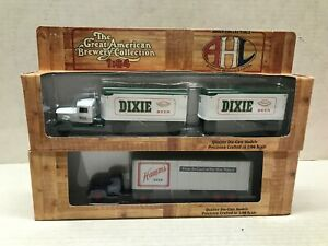 LOT OF 2 HARTOY GREAT AMERICAN BREWERY COLLECTION 1/64 SCALE TRACTOR TRAILERS