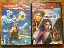Lot of 2 PS2 Games: Final Fantasy X & X-2 bundle sony playstation