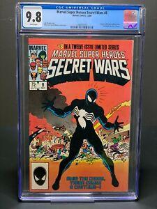CGC 9.8 Marvel Super Heroes Secret Wars #8 (1984)  Spider-Man VENOM! Symbiote!