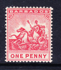 BARBADOS 1909 SG165 1d red wmk Multiple Crown CA - lightly mounted mint. Cat £30